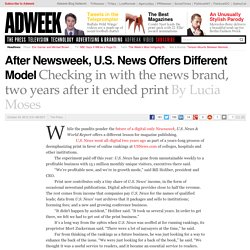 After Newsweek, U.S. News Offers Different Model
