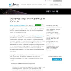 SXSW Buzz: Integrating Brands in Social TV