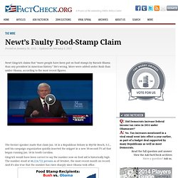 Newt's Faulty Food-Stamp Claim