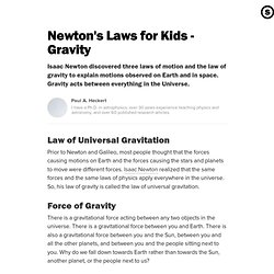 Newton's Laws for Kids - Gravity