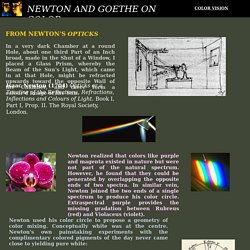 Newton and Goethe on color