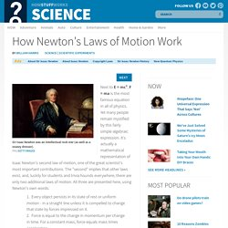 How Newton's Laws of Motion Work