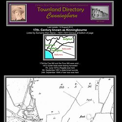 Newtownards, a pictorial history - Cunningburn Townland Records