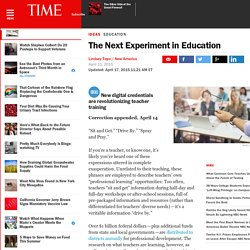 The Next Experiment in Education