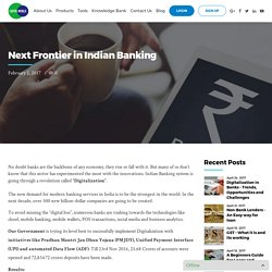 Next Frontier in Indian Banking