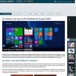 Next INpact - Au secours, j'ai reçu un PC Windows 8(.1) pour Noël ! (Page 2)