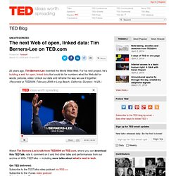 The next Web of open, linked data: Tim Berners-Lee on TED