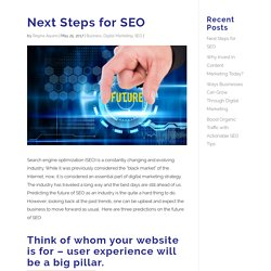 Next Steps for SEO ~ Engage Online