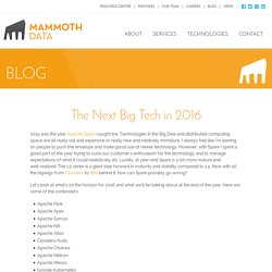 The Next Big Tech in 2016 - Mammoth Data