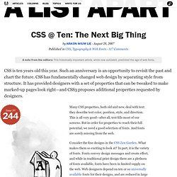 CSS @ Ten: The Next Big Thing