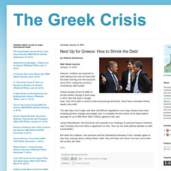 Next Up for Greece: How to Shrink the Debt