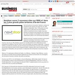 Nextdoor ouvre 2 nouveaux sites sur 9000 m² dans les 2 plus grands pôles tertiaires d'Ile-de-France
