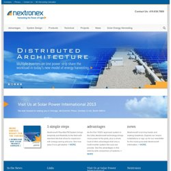 Nextronex – Solar Inverters and Integrated Systems