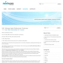 Nextware Technologies Blog - Archive - VSP
