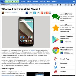 Nexus 6: Specs & Expectations