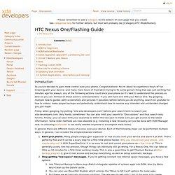 HTC Nexus One/Flashing Guide - XDA-Developers