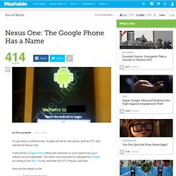 Nexus One: The Google Phone Has a Name