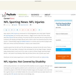 NFL Sporting News: NFL Injuries