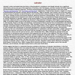 NFLD History Labrador