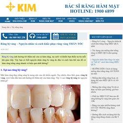 Nguyên nhân răng bị vàng và giải pháp tẩy trắng NHANH ngay tại nhà