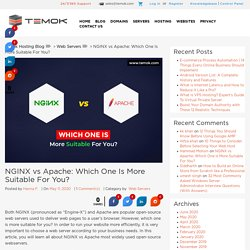 NGINX vs Apache: Which One Is More Suitable For You?