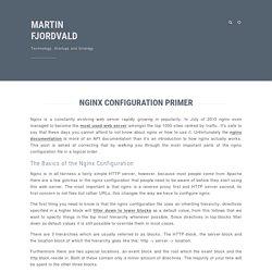 Nginx Configuration Primer