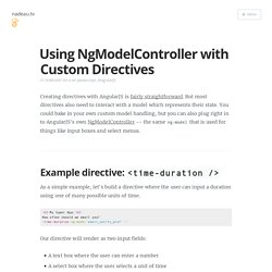 Using NgModelController with Custom Directives