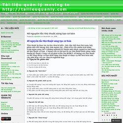 40 nguyên tắc thủ thuật sáng tạo cơ bản « Tài liệu quản lý moving to