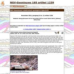 NGV-Geonieuws artikel 1239