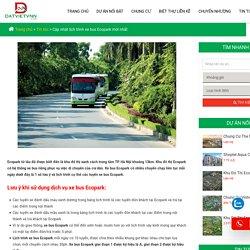 Cập nhật lịch trình xe bus Ecopark mới nhất năm 2020
