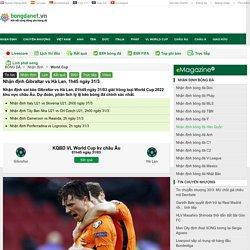 Nhận định Gibraltar vs Hà Lan, 1h45 ngày 31/3
