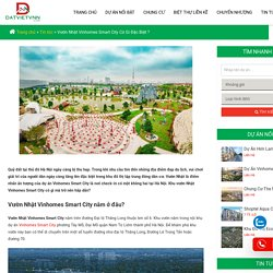Vườn Nhật Vinhomes Smart City Có Gì Đặc Biệt