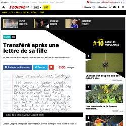 NHL - Transféré après une lettre de sa fille