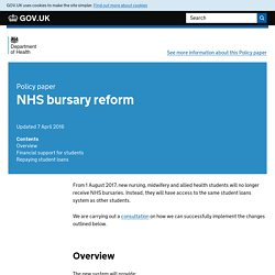 NHS bursary reform