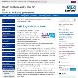 NHS England » NHS England Call to Action