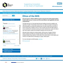 Ethos of the NHS