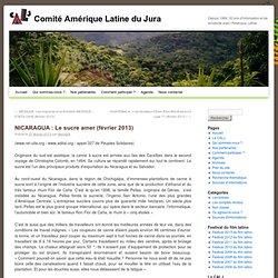 NICARAGUA : Le sucre amer (février 2013)