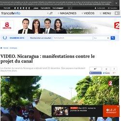 Nicaragua : manifestations contre le projet du canal