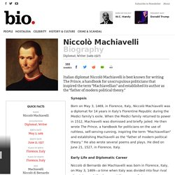 Niccolò Machiavelli - Biography - Diplomat, Writer