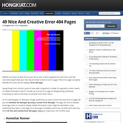 49 Nice And Creative Error 404 Pages