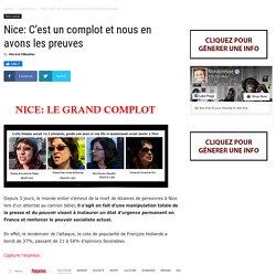 Nice: C'est un complot et nous en avons les preuves (Vraie info)