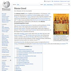 Nicene Creed - Wikipedia