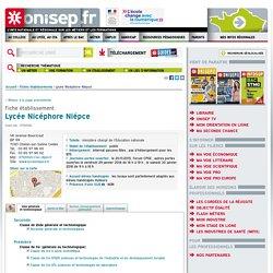 Lycée Nicéphore Nièpce - 71 Chalon-sur-Saône - Lycée Public