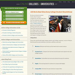100 Niche Deal Sites Every College Student Should Know