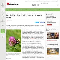 Nichoirs pour les insectes utiles