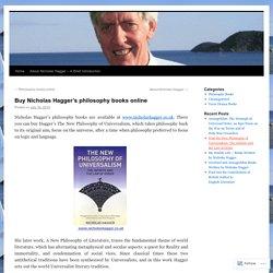 Buy Nicholas Hagger's philosophy booksonline