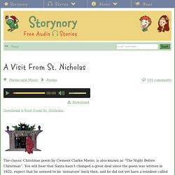 A Visit From St. Nicholas - Storynory - Free Audio Stories for kids