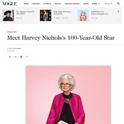 Harvey Nichols 100 Year Old Model Campaign