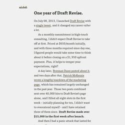 Nick Disabato: One year of Draft Revise.