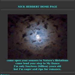 Nick Herbert's Home Page